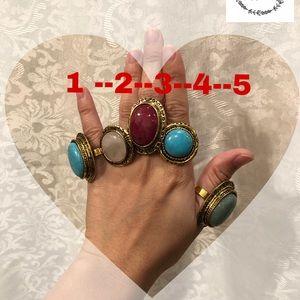 Rings natural stone
